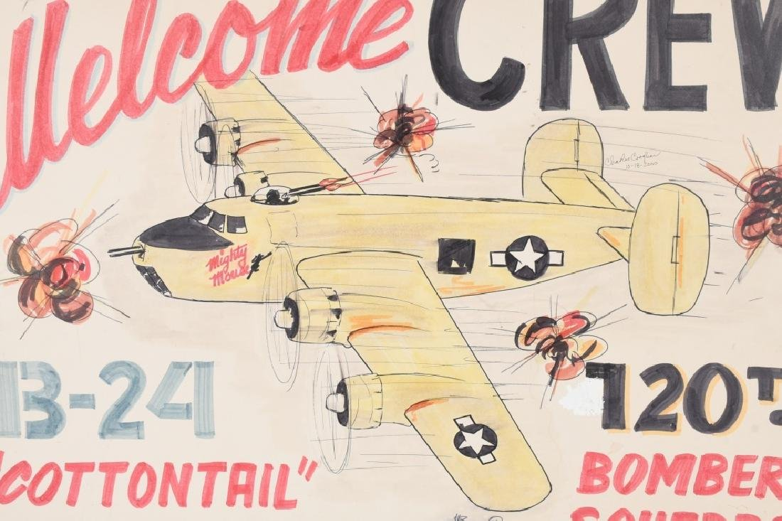 WWII US ARMY AAF 120TH BOM SQUADRON REUNION POSTER - 2