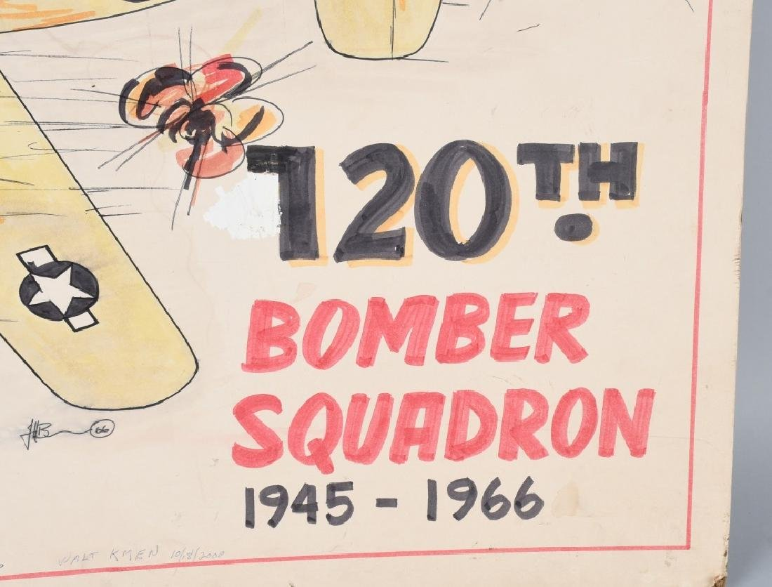 WWII US ARMY AAF 120TH BOM SQUADRON REUNION POSTER - 3