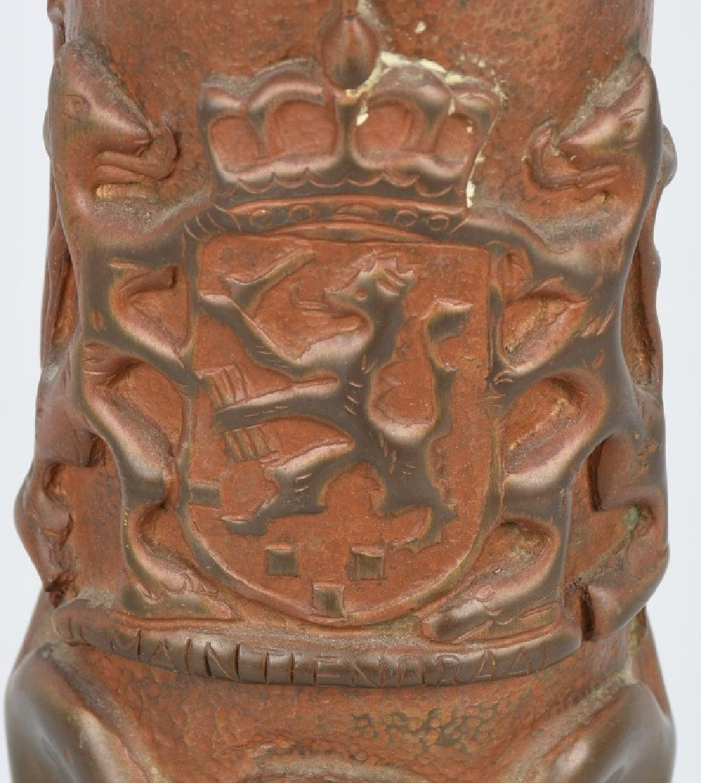 WWII DUTCH TRENCH ART SHELL PRESENTED TO US GI - 2