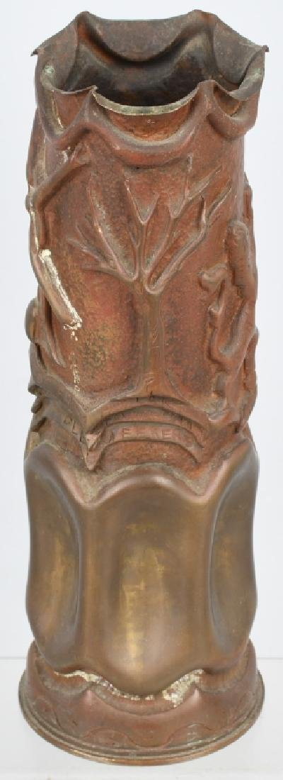 WWII DUTCH TRENCH ART SHELL PRESENTED TO US GI - 8