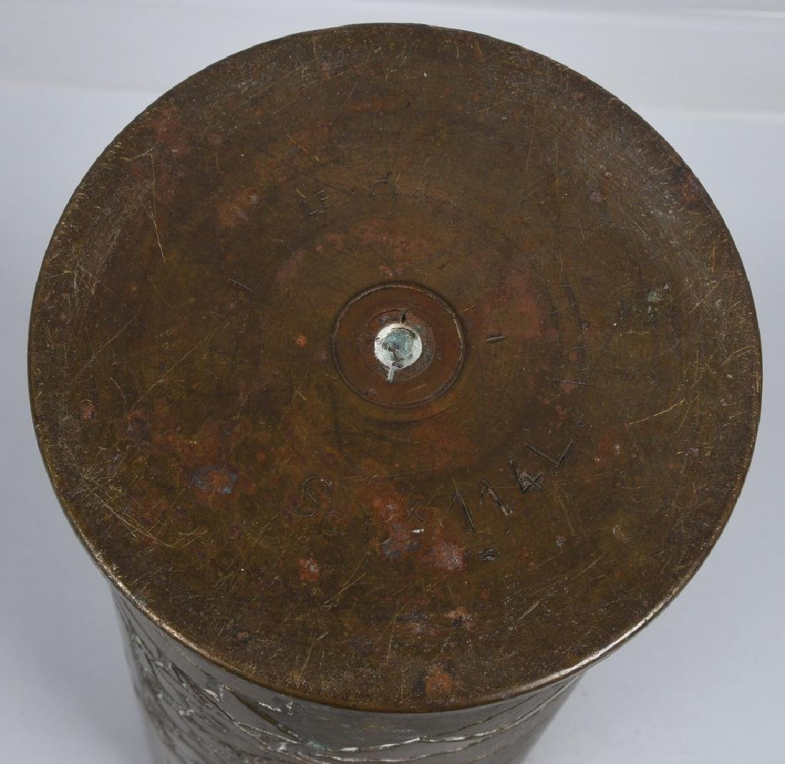 WWII 105MM TRENCH ART SHELL IN FRENCH FROM LEBANON - 10