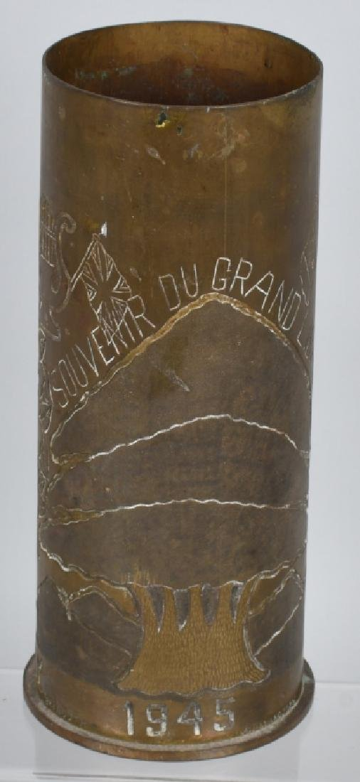 WWII 105MM TRENCH ART SHELL IN FRENCH FROM LEBANON - 4