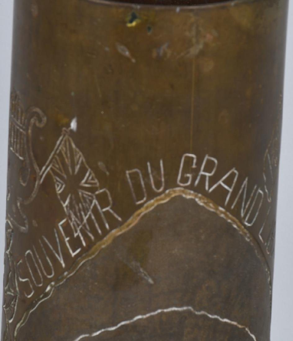WWII 105MM TRENCH ART SHELL IN FRENCH FROM LEBANON - 5