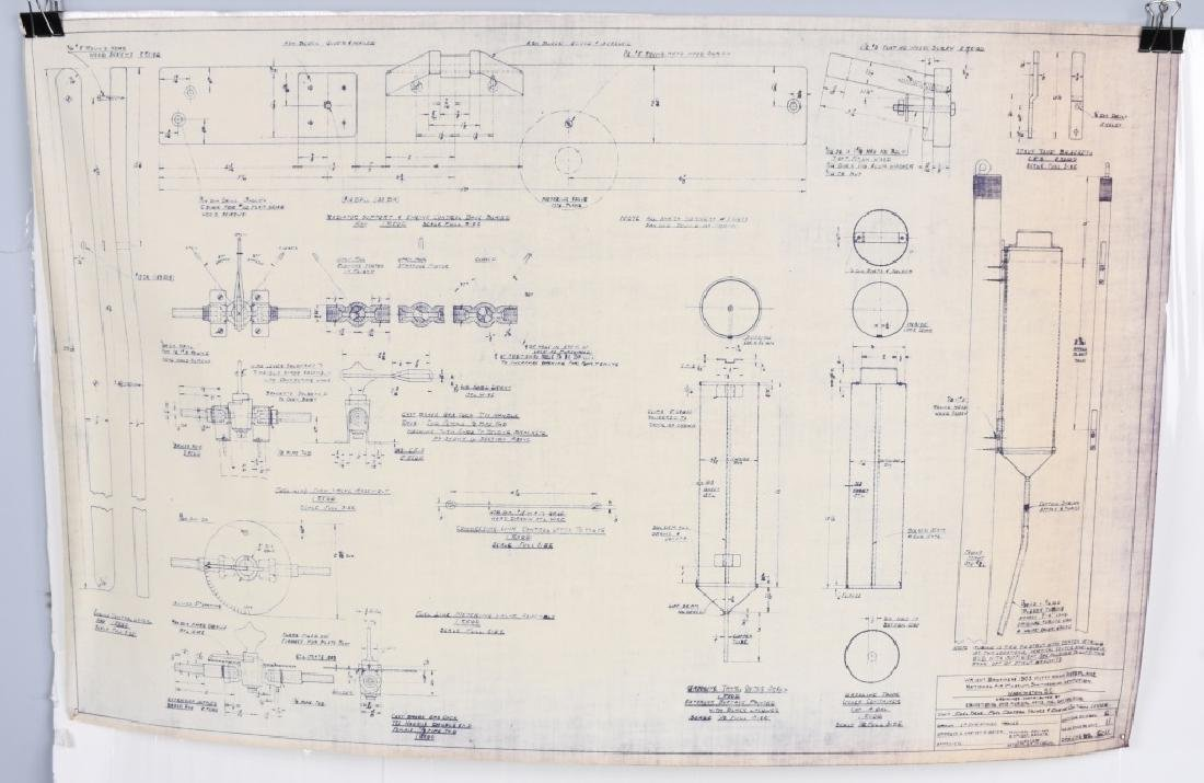 WRIGHT BROTHERS 1903 AERO PLANE BLUEPRINTS 1950S