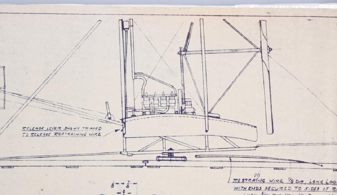 WRIGHT BROTHERS 1903 AERO PLANE BLUEPRINTS 1950S - 6