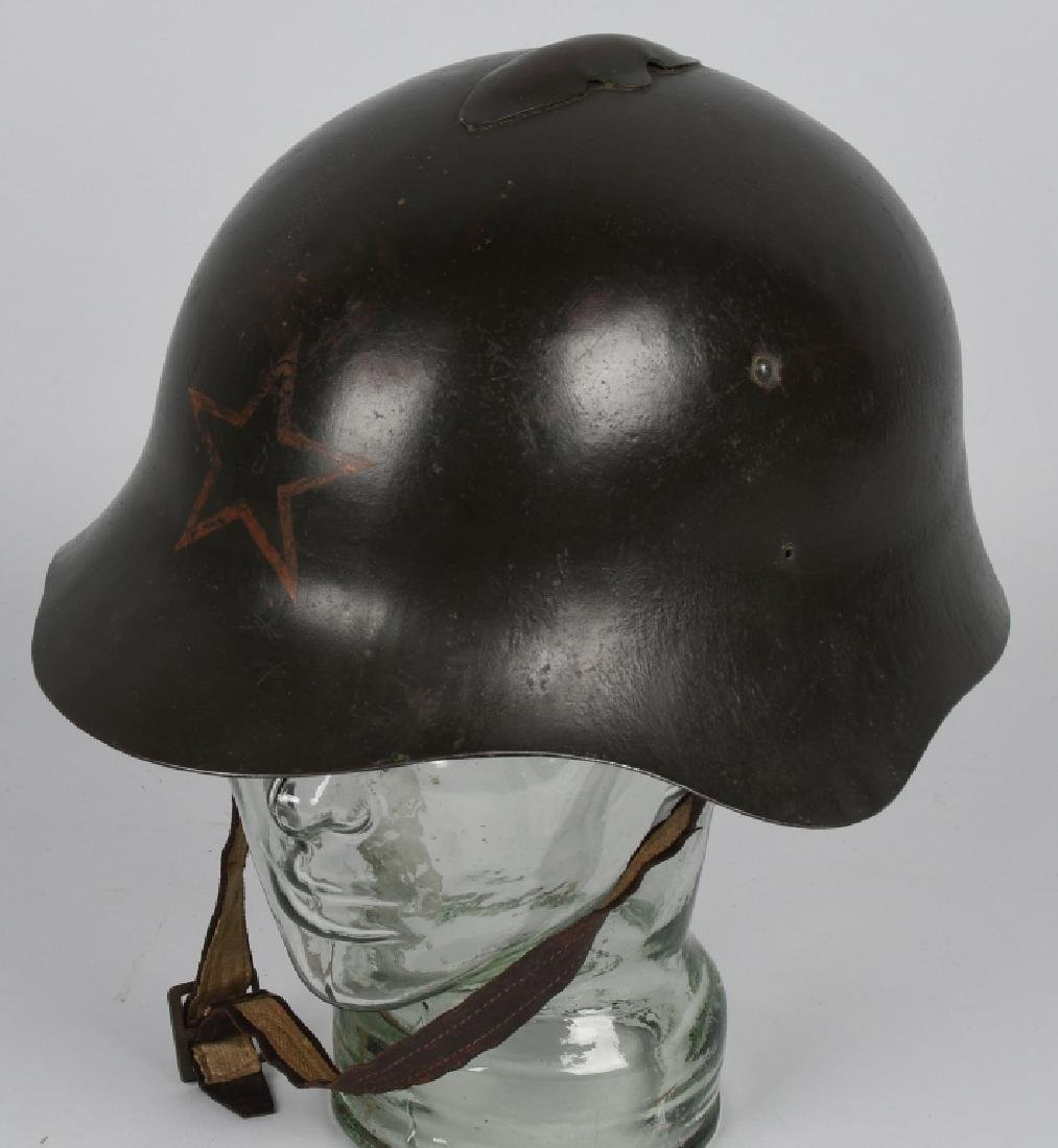 WWII RUSSIAN M 36 HELMET - LEATHER LINER