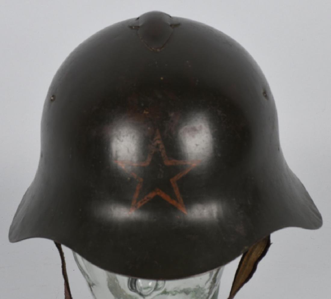 WWII RUSSIAN M 36 HELMET - LEATHER LINER - 2