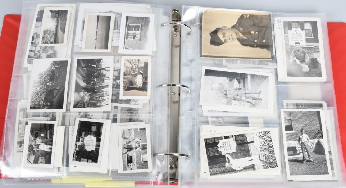 WWII - KOREA 2 LARGE BINDERS - PHOTOS & EPHEMERA - 2