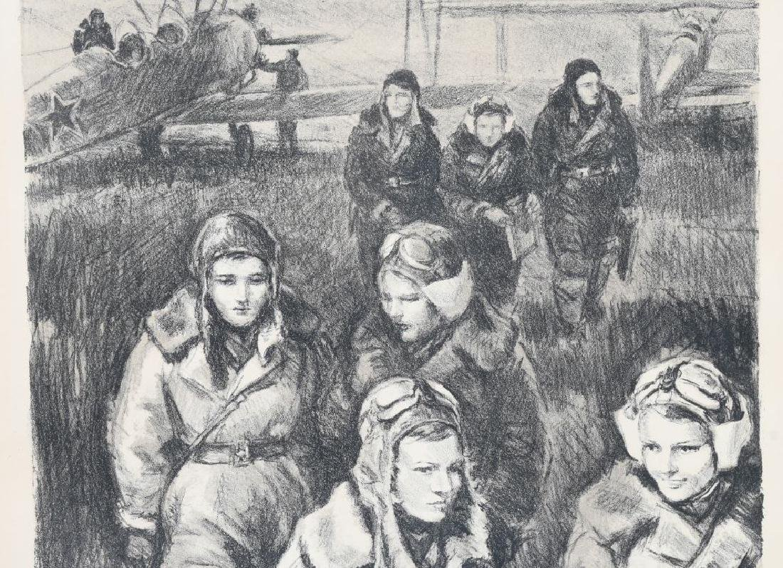 """WWII PRINT RUSSIAN FEMALE PILOTS """"NIGHT WITCHES"""" - 4"""