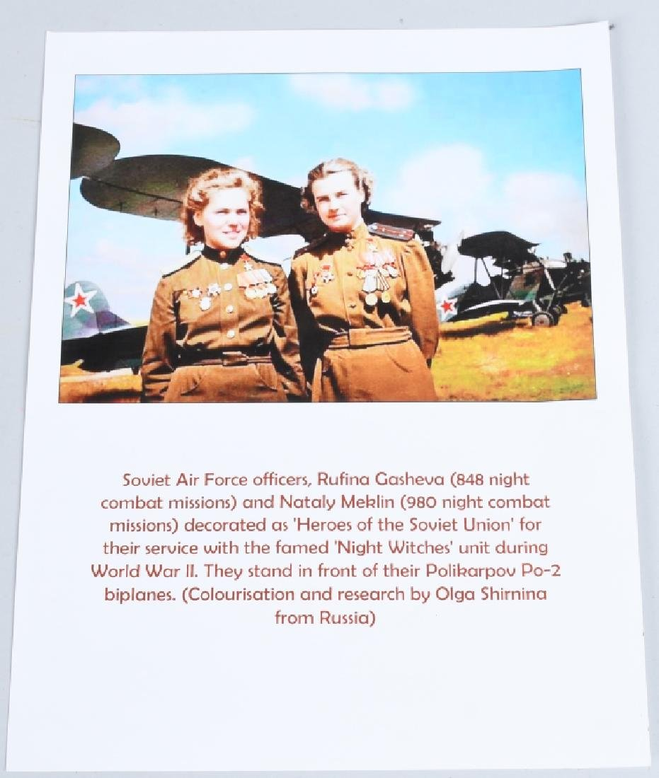 """WWII PRINT RUSSIAN FEMALE PILOTS """"NIGHT WITCHES"""" - 6"""
