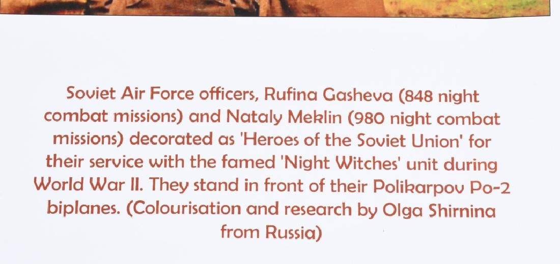 """WWII PRINT RUSSIAN FEMALE PILOTS """"NIGHT WITCHES"""" - 7"""