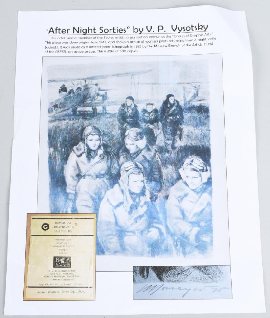 """WWII PRINT RUSSIAN FEMALE PILOTS """"NIGHT WITCHES"""" - 8"""