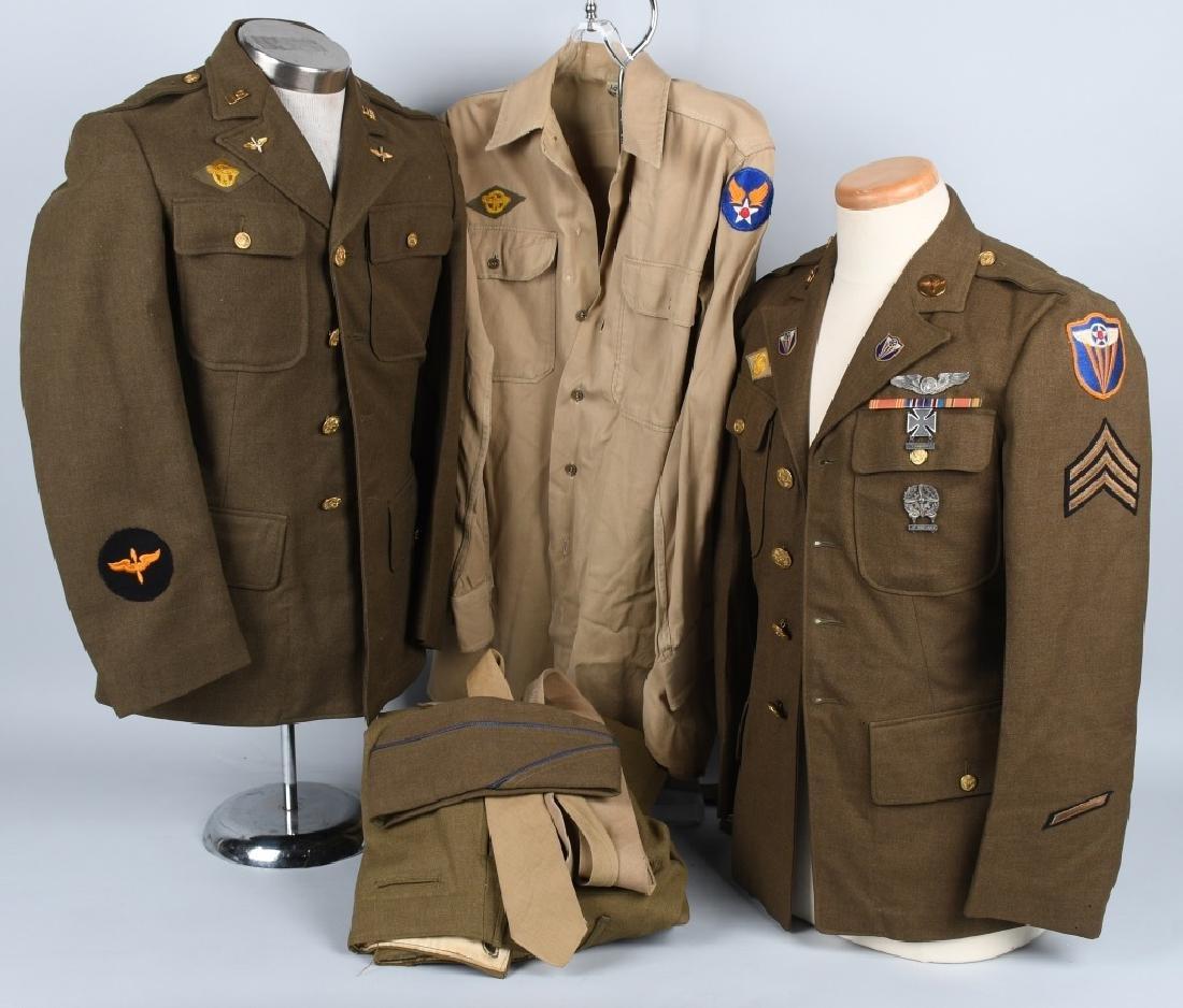 WWII U.S. ARMY AIR FORCE AAF UNIFORM LOT