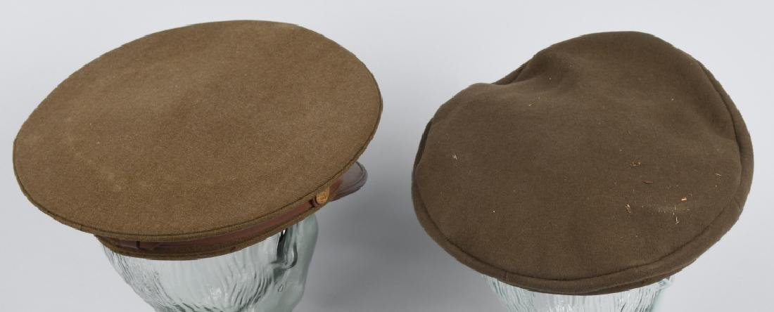 WWII US ENLISTED MAN'S HAT LOT & POST WAR OFFICERS - 8