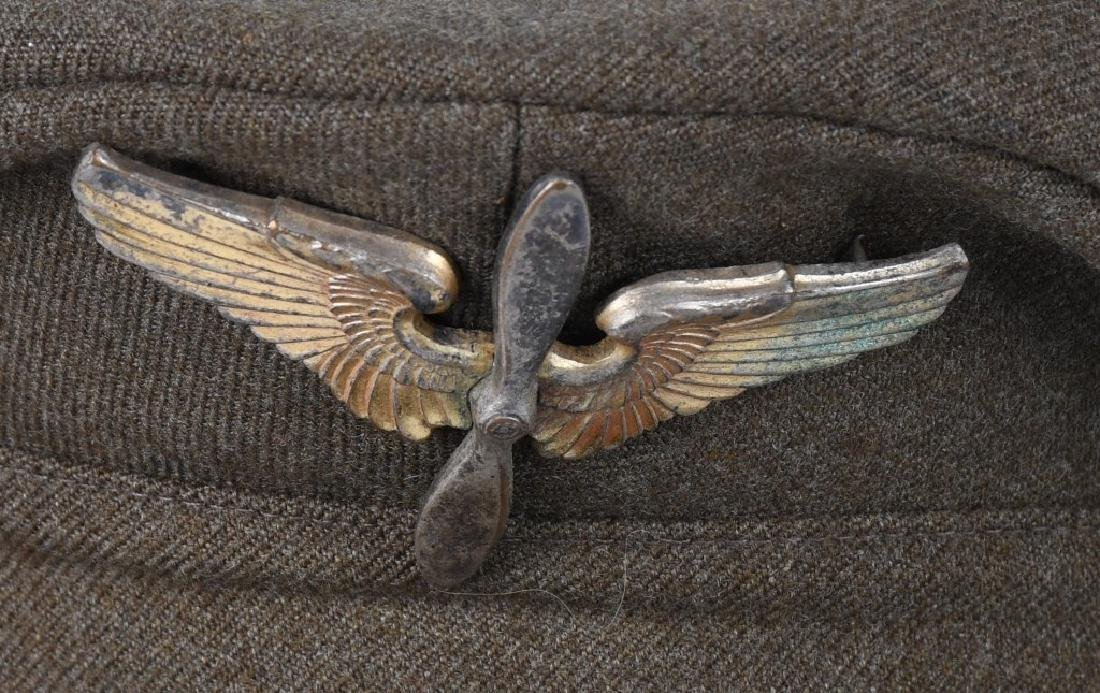 WWII U.S. ARMY OFFICER'S VISOR HAT LOT (3) - 2