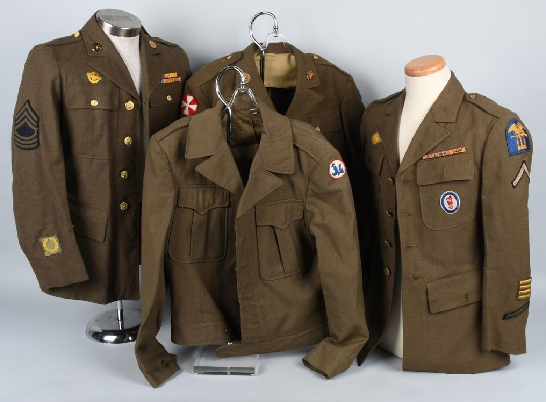 WWII U.S. ARMY PACIFIC THEATER UNIFORM LOT (4)