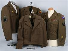 WWII US ARMY EUROPEAN THEATER UNIFROM LOT 4