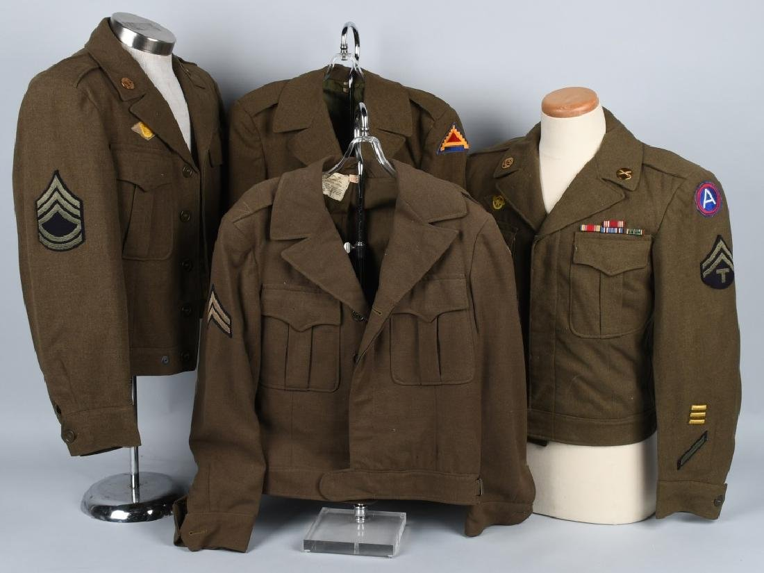 WWII U.S. ARMY EUROPEAN THEATER UNIFROM LOT (4)