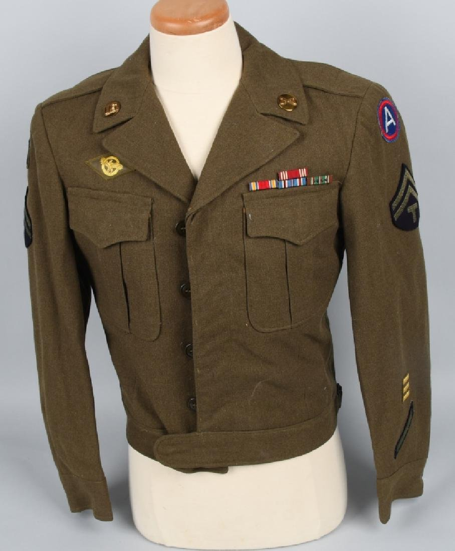 WWII U.S. ARMY EUROPEAN THEATER UNIFROM LOT (4) - 2