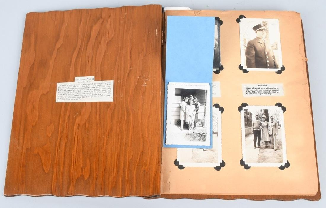 WWII U.S. NAVY WAVE PHOTO ALBUM - SCRAPBOOK