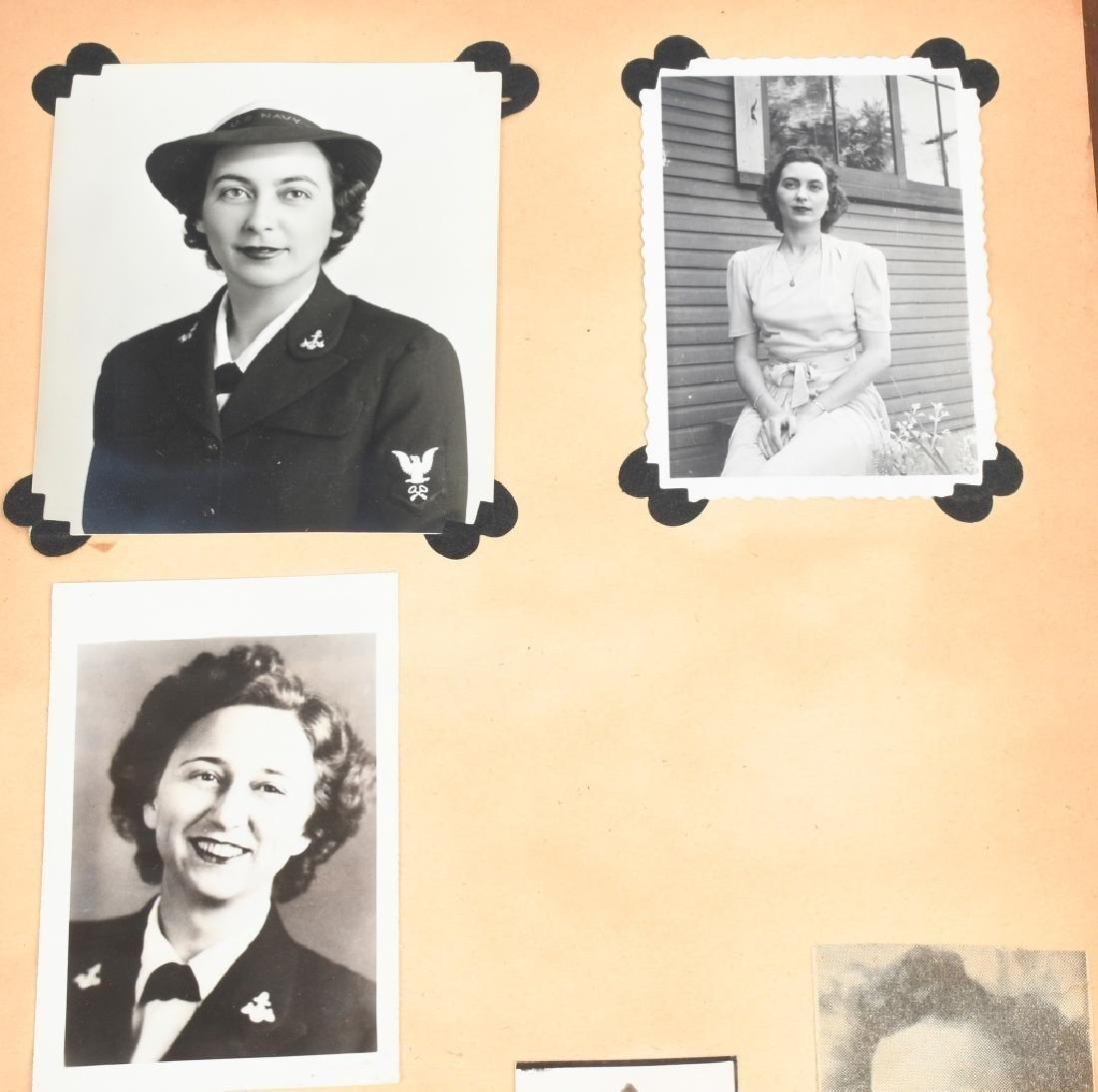 WWII U.S. NAVY WAVE PHOTO ALBUM - SCRAPBOOK - 3