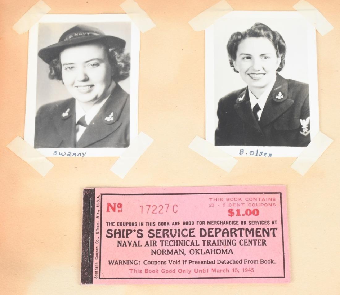 WWII U.S. NAVY WAVE PHOTO ALBUM - SCRAPBOOK - 9