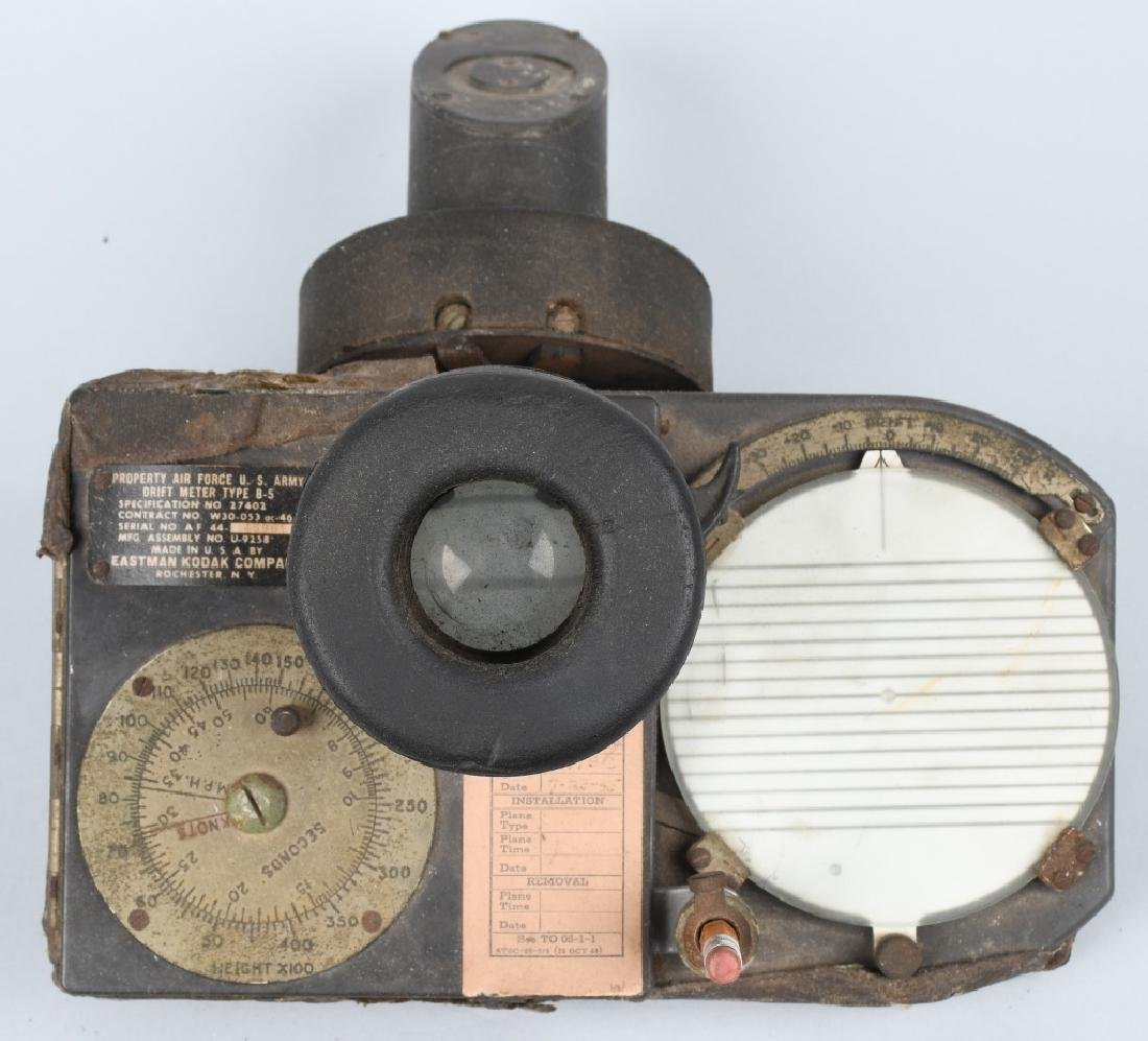 WWII U.S. ARMY AIR FORCE B-5 DRIFT METER