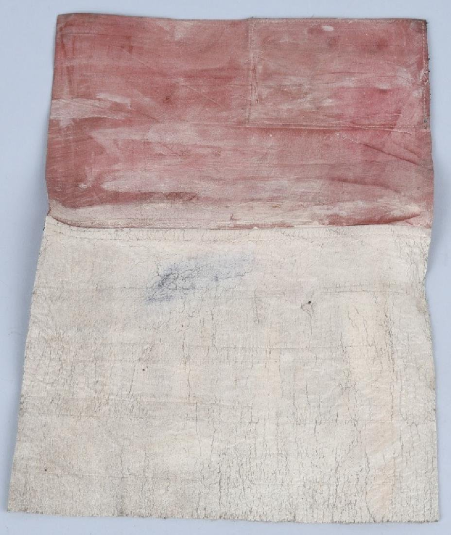 WWII U.S. ARMY AIR FORCE C.B.I. LEATHER BLOOD CHIT - 4