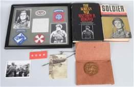 WWII U.S. 82ND AIRBORNE GENL MATTHEW RIDGWAY GROUP