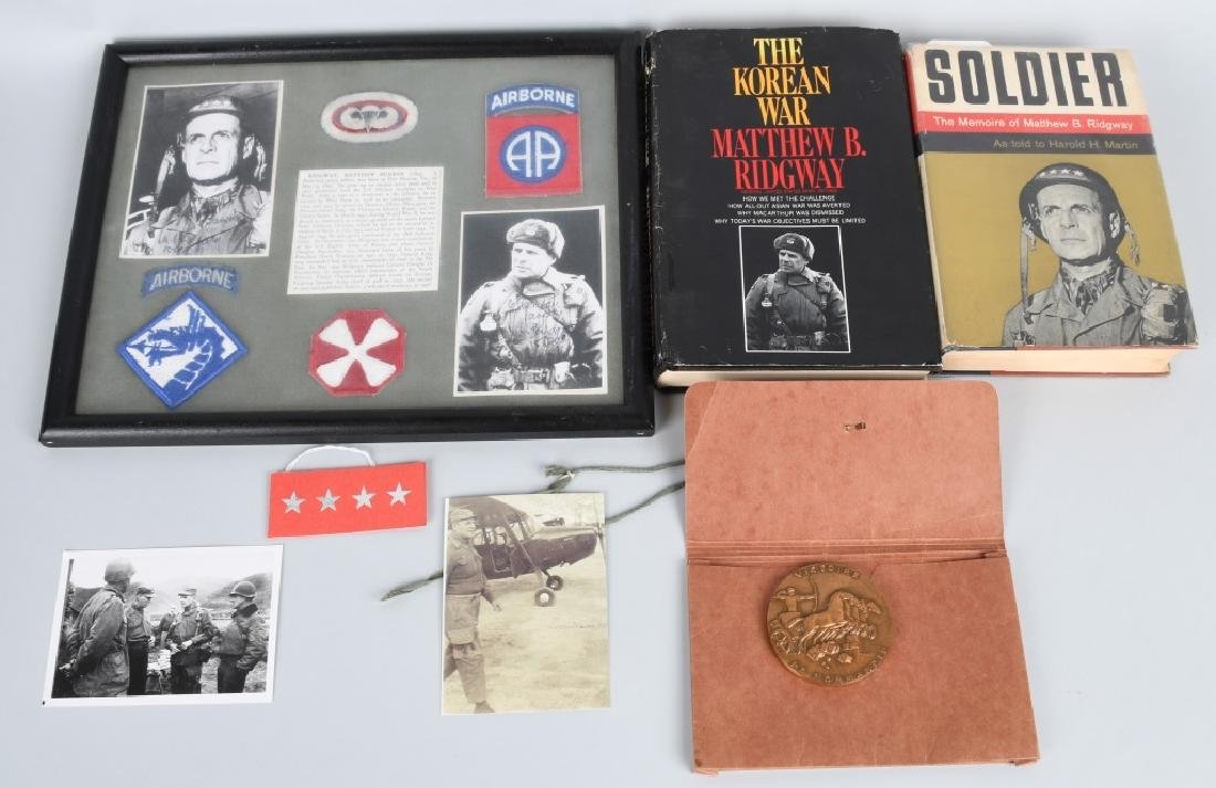WWII U.S. 82ND AIRBORNE GENL MATTHEW RIDGWAY GROUP