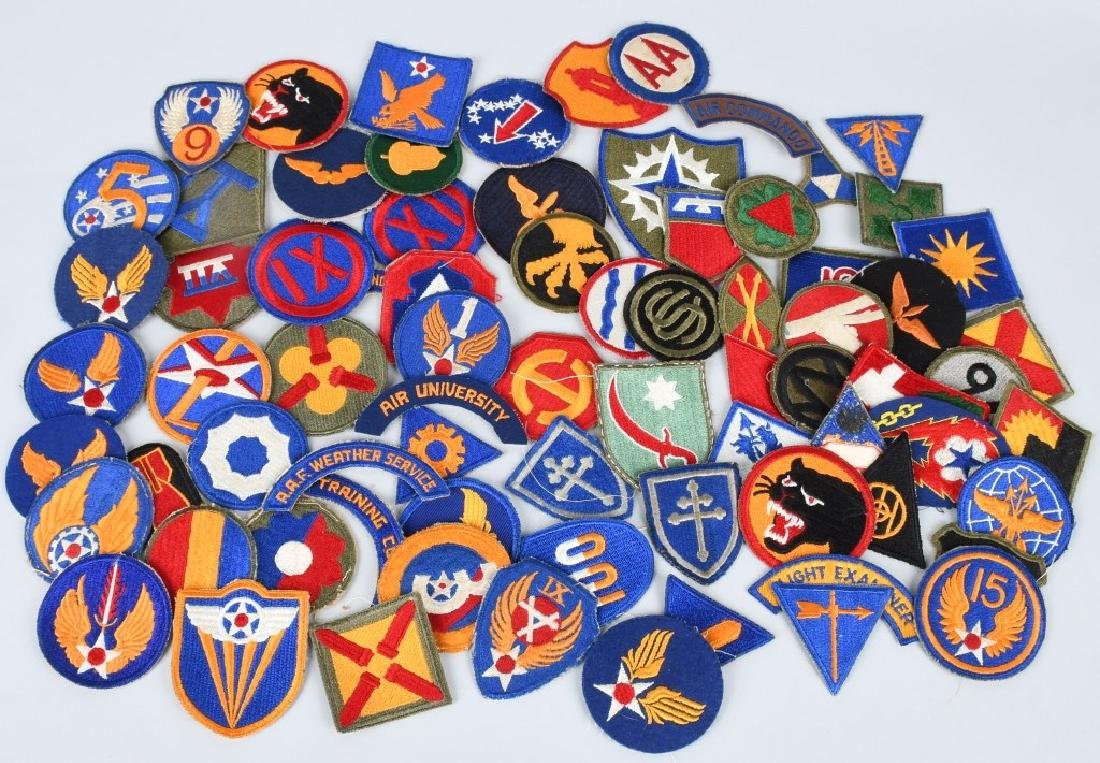 WWII U.S. ARMY AND A.A.F. PATCH LOT (75)