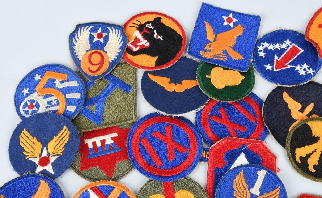 WWII U.S. ARMY AND A.A.F. PATCH LOT (75) - 2