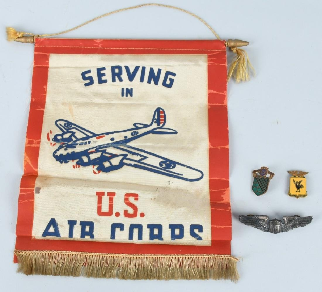 WWII U.S. ARMY AIR FORCE AAC GROUP WINGS, DIS FLAG