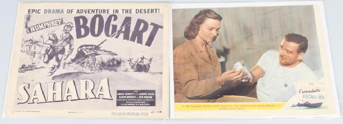 WWII JOHN WAYNE & H. BOGART MOVIE THEATER PLACARDS