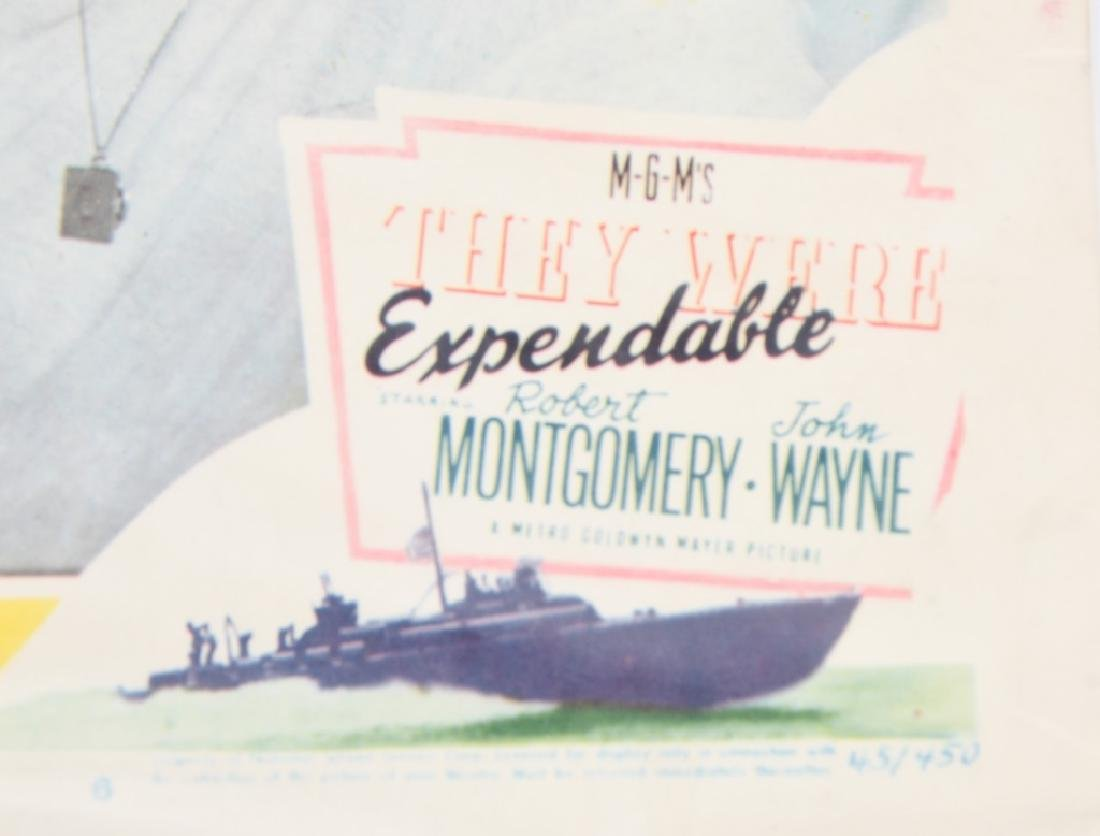 WWII JOHN WAYNE & H. BOGART MOVIE THEATER PLACARDS - 3