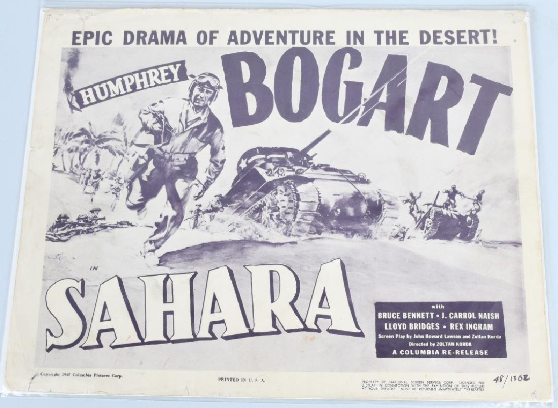 WWII JOHN WAYNE & H. BOGART MOVIE THEATER PLACARDS - 5