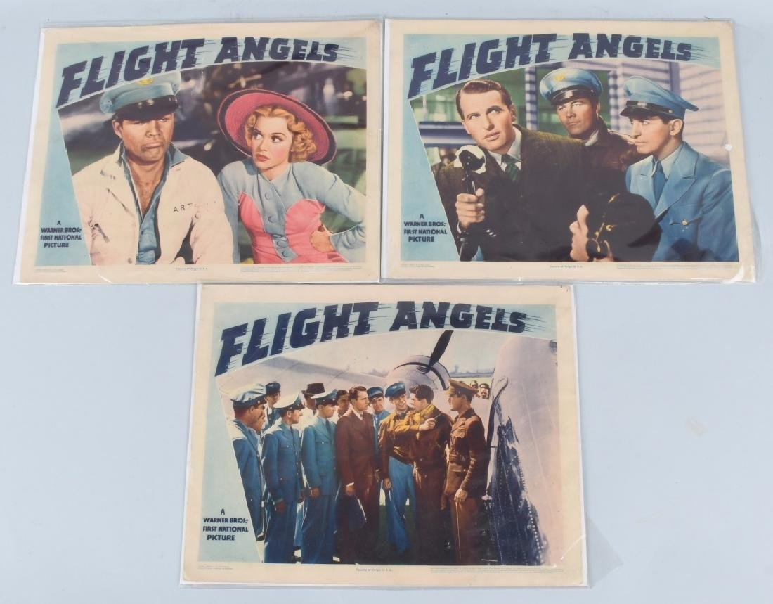 "1940 WARNER BROS. ""FLIGHT ANGELS"" THEATER PLACARDS"