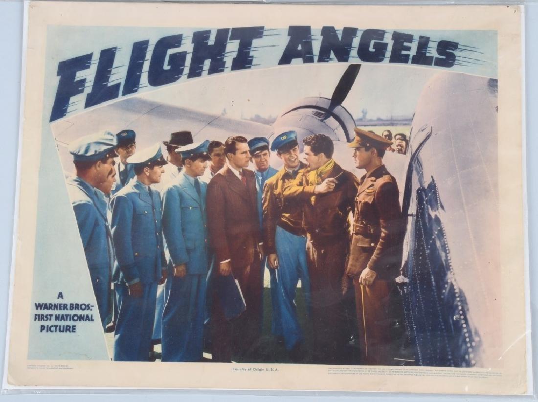 "1940 WARNER BROS. ""FLIGHT ANGELS"" THEATER PLACARDS - 2"