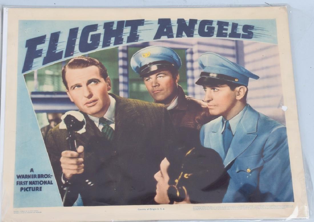 "1940 WARNER BROS. ""FLIGHT ANGELS"" THEATER PLACARDS - 4"