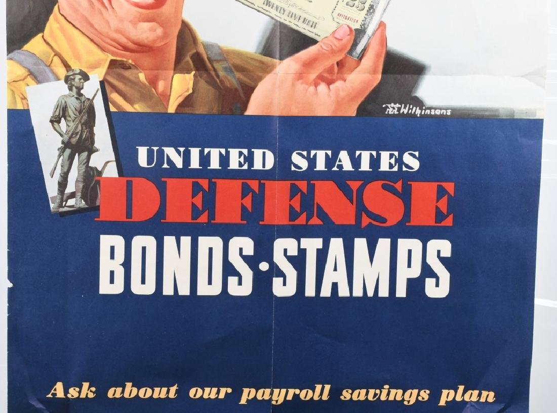 "WWII US ""WANTED FIGHTING DOLLARS"" BOND POSTER 1942 - 3"
