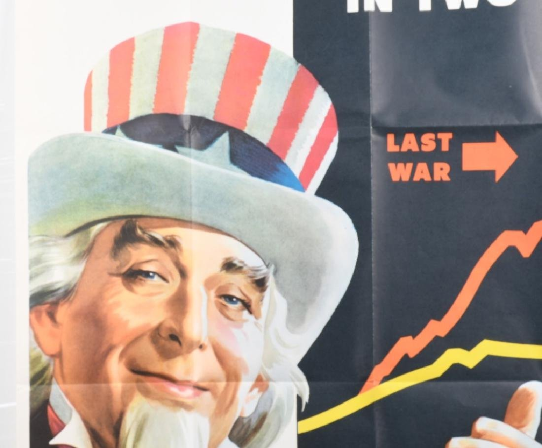 WWII U.S. UNCLE SAM COST OF LIVING POSTER 1944 - 3
