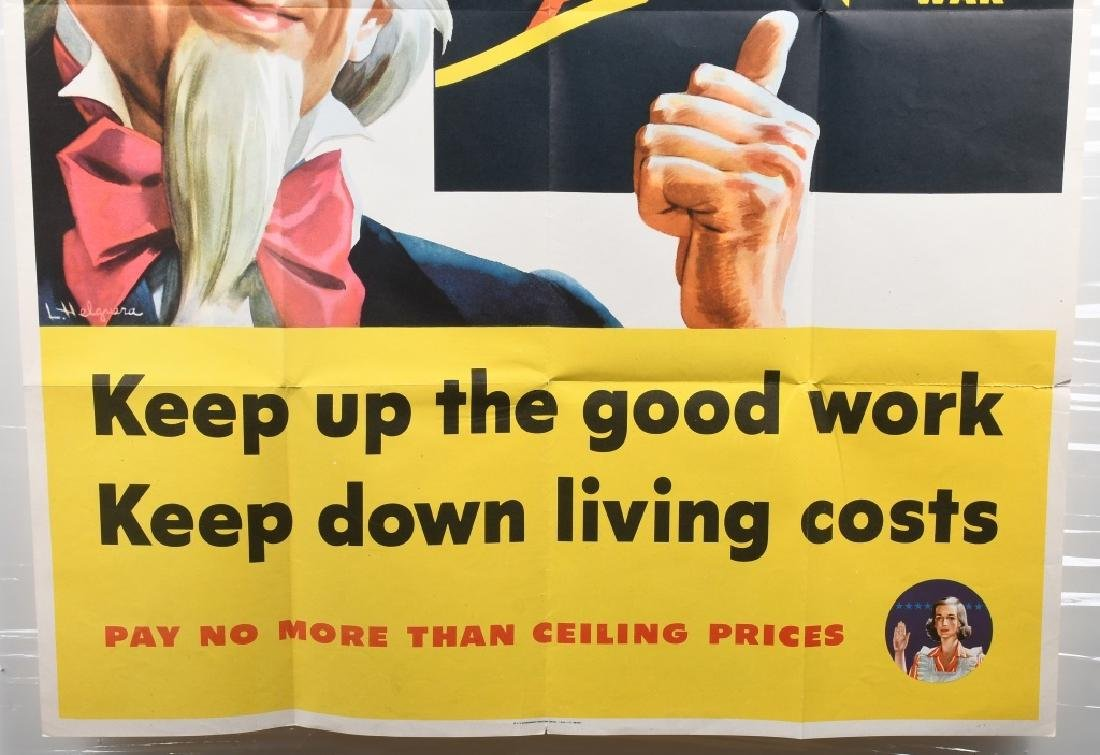 WWII U.S. UNCLE SAM COST OF LIVING POSTER 1944 - 5