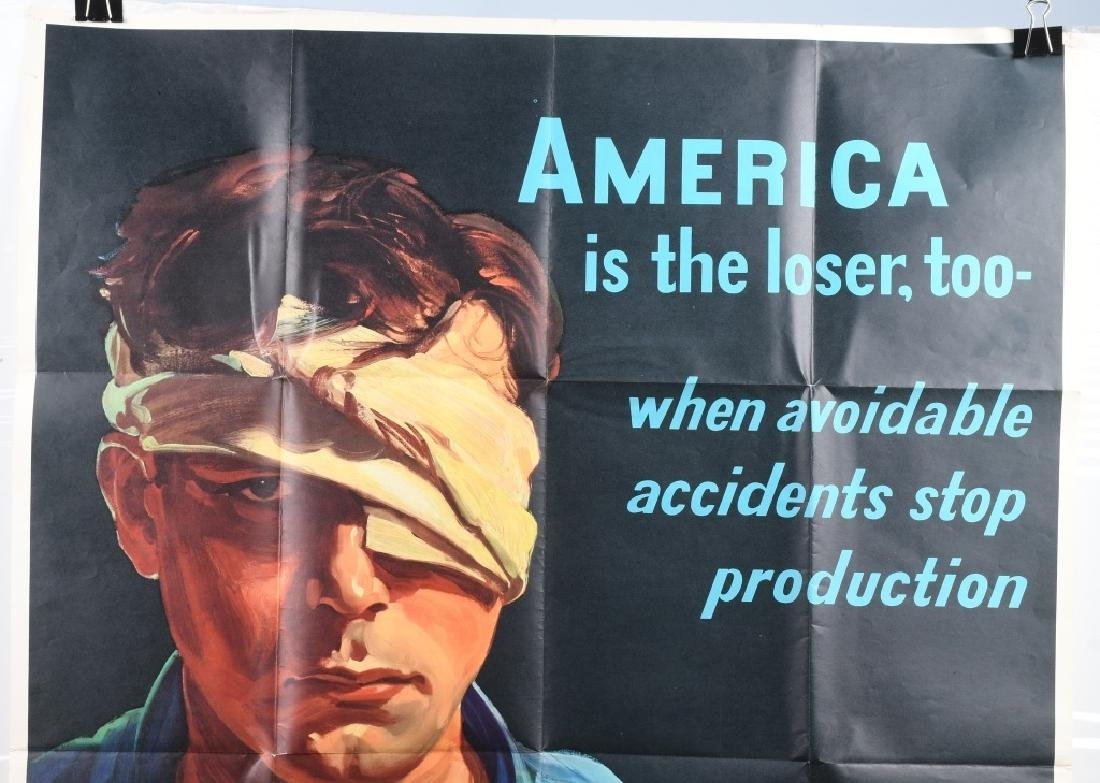 WWII U.S. POSTER WORKER SAFETY POSTER 1942 - 2