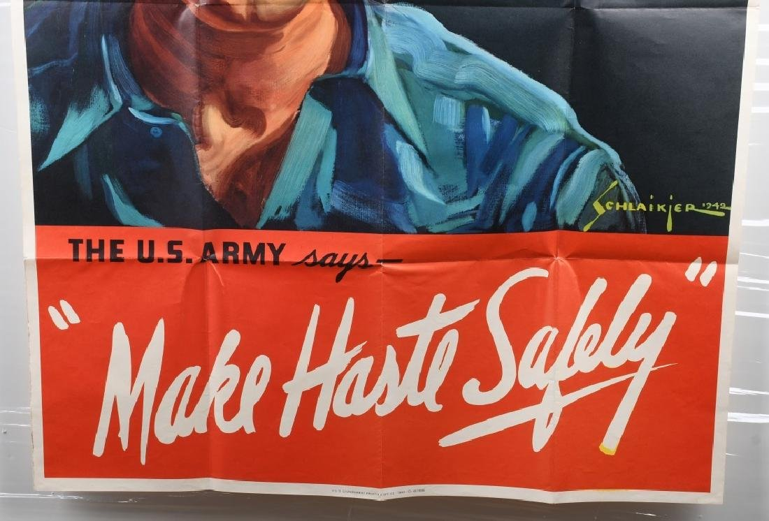 WWII U.S. POSTER WORKER SAFETY POSTER 1942 - 3