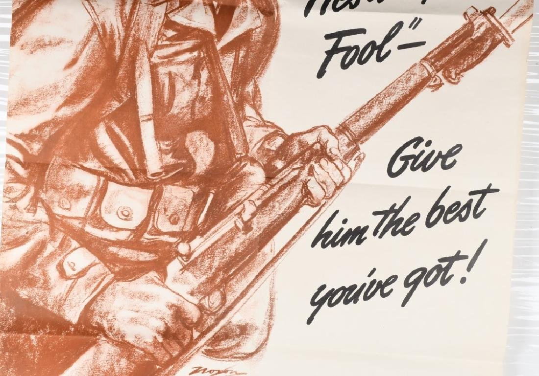 WWII U.S. POSTER -HE'S A FIGHTING FOOL - WAR PROD. - 3