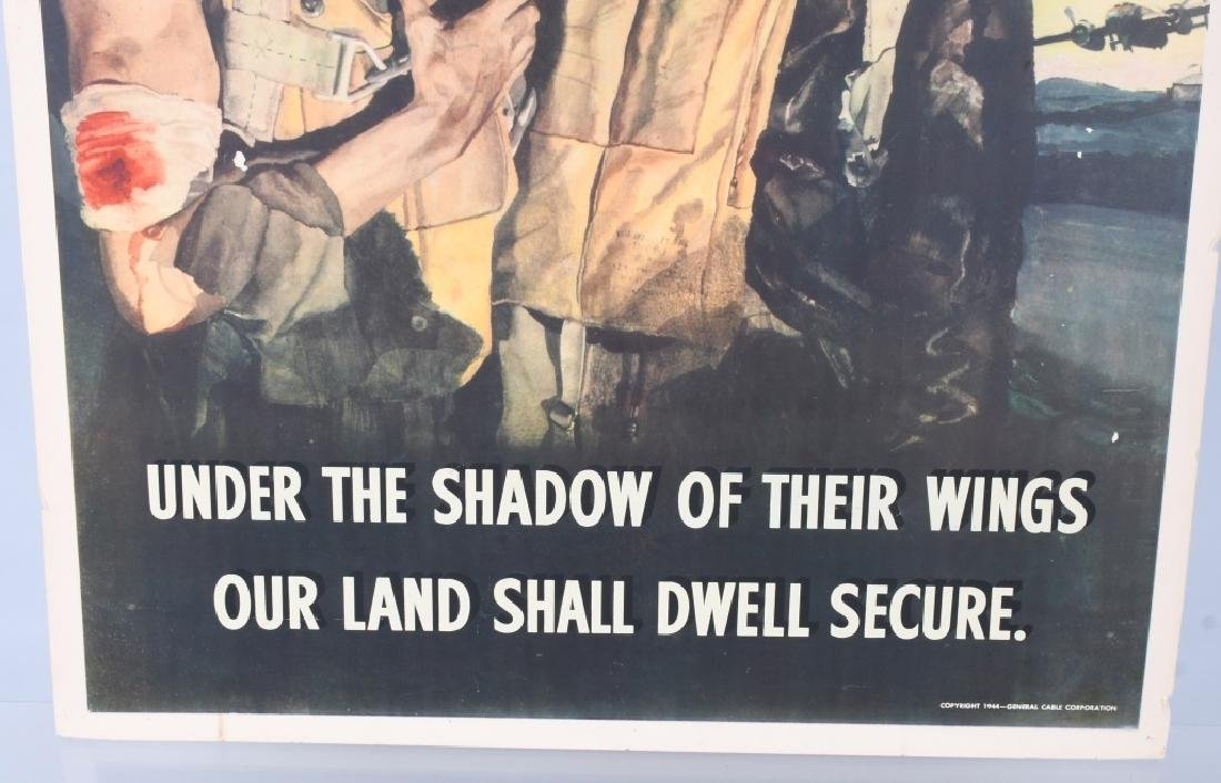 "WWII U.S. POSTER ""UNDER THE SHADOW OF THEIR WINGS"" - 4"
