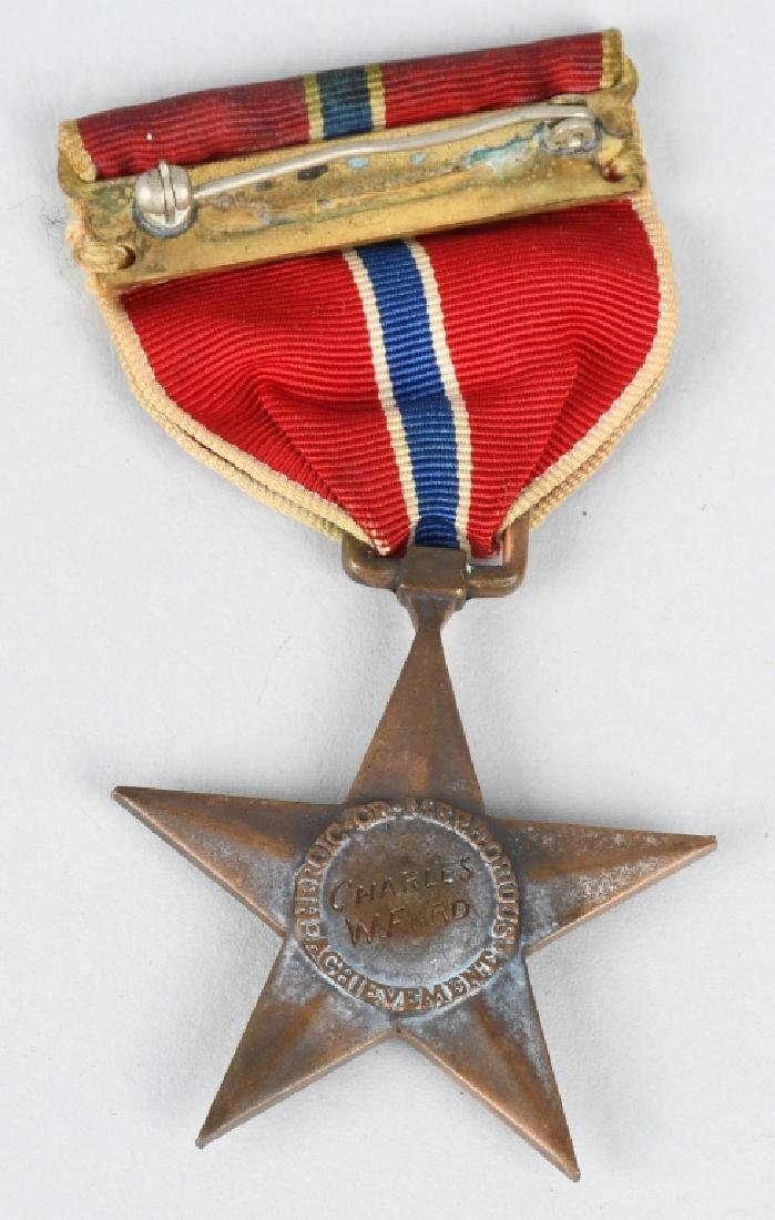 WWII U.S. ENGRAVED BRONZE STAR & DOG TAGS - 3