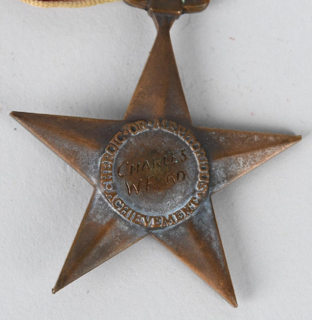 WWII U.S. ENGRAVED BRONZE STAR & DOG TAGS - 4