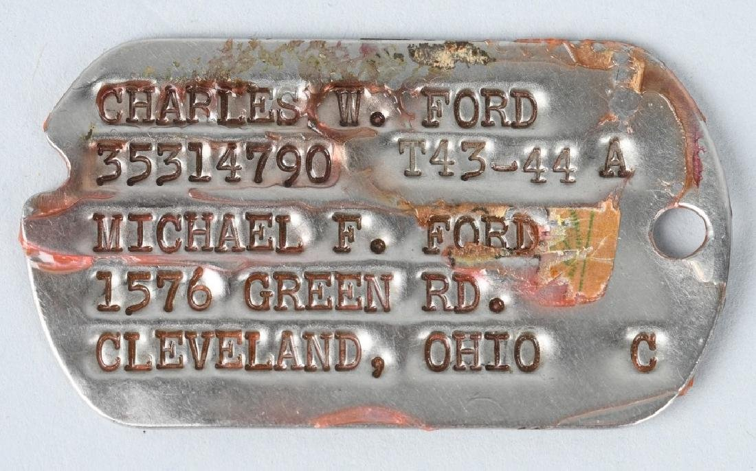 WWII U.S. ENGRAVED BRONZE STAR & DOG TAGS - 5
