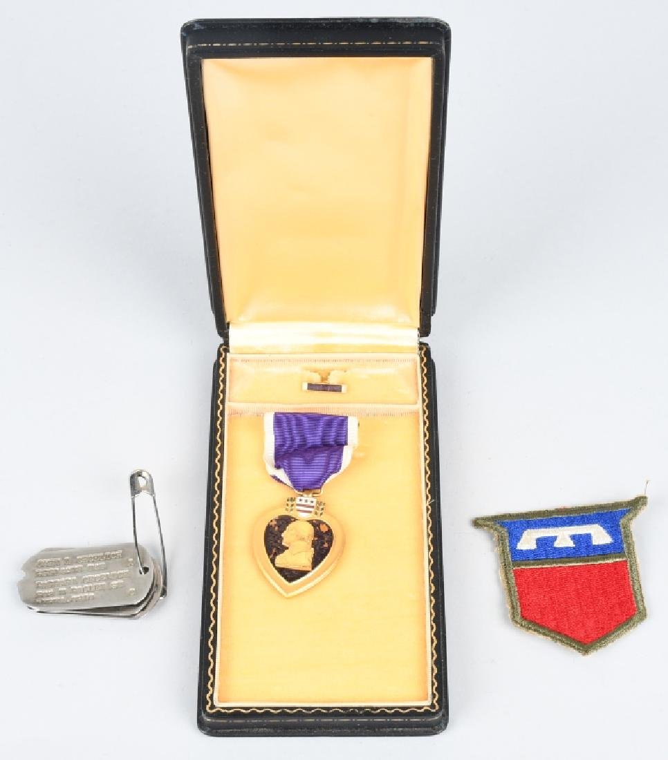 WWII U.S. PURLPE HEART GROUP - BEREA OHIO SOLDIER